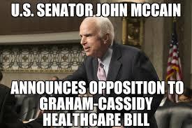 Graham Meme - mccain announces opposition to graham cassidy memenews