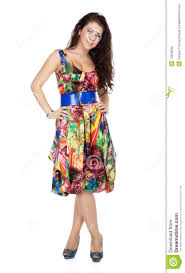 colorful dress girl in colorful dress stock photography image 13936632