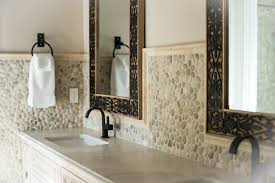 kitchen design ideas pebble backsplash natural stone backsplashes