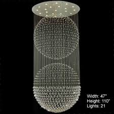 Ball Chandelier Lights Brizzo Lighting Stores Double Sphere Modern Foyer Crystal