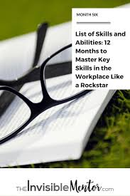 list of skills and abilities 12 months to master key skills in