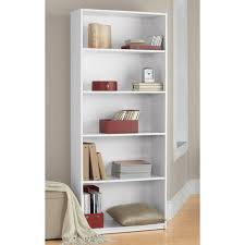 5 Shelf Bookcase White Walmart Com White Bookcase Walmart
