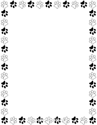 paw print powerpoint template printable black and white paw print