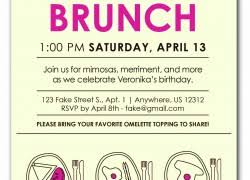 brunch invitation wording 18th birthday invitation cloveranddot
