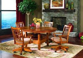 Kitchen Table With Caster Chairs Kitchen Chairs With Casters