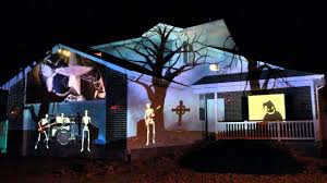 halloween light display projector 2015 halloween house projection display live youtube