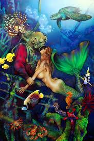 336 vintage styled mermaids art images