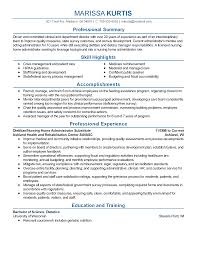 Professional Summary On Resume Download Objective Summary For Resume Haadyaooverbayresort Com How