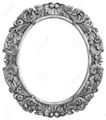 antique silver plated frame isolated stock photo picture and
