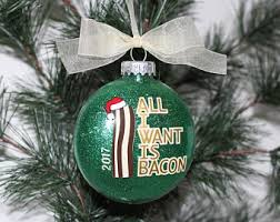 bacon ornament funny christmas gift food lover gift bacon
