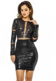 sequin dresses women s black sleeve sequin dress ax usa fashion