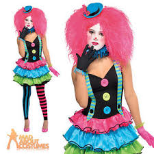Halloween Costumes Teenage Girls Kool Klown Costume Teen Girls Clown Fancy Dress Circus Halloween