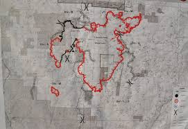 Wildfire Perimeter Map by Activity On Railroad Fire Slows As Weather Cooperates Sierra