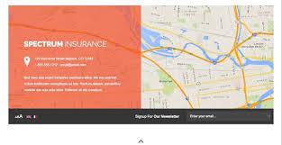 spectrum joomla insurance company template