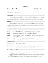 marketing resume objective berathen com for sales representative