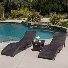 maureen outdoor 3pc pe wicker folding chaise lounge chair u0026 table