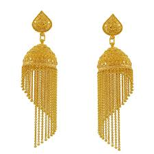 earrings gold design designer gold earrings a v company manufacturer in araghar