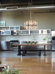 Loft Kitchen Ideas Exquisite Modern Industrial Kitchen Design With Chandelier Lamps