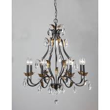 Adam Wallacavage Chandeliers For Sale by First Lighting Juno 8 Light Antique Bronze Candelabra Chandelier