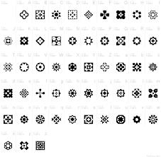 italian mosaic ornaments font