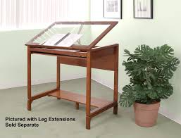 top drafting table ponderosa glass top wood drafting desk by studio designs