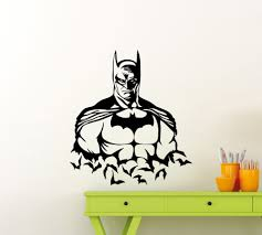 online buy wholesale superheroes wall stickers from china batman superhero art wall sticker home rooms american movies decor for kid boys bedroom vinyl wall