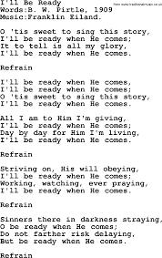 Maps Lyrics Songs And Hymns About Jesus Second Coming I U0027ll Be Ready Lyrics