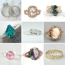 engagement rings that are not diamonds 25 non engagement rings rock n roll
