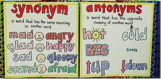 Synonyms and Antonyms   Mrs Lorber     s Homepage Picture