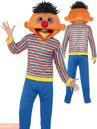 Ernie Bert Halloween Costumes Adults Bert Ernie Costume Mens Sesame Street Fancy Dress Licensed