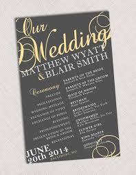 Wedding Program Board 21 Best Images About Invites Programs On Pinterest Wedding