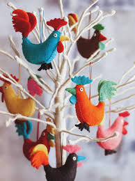 rocky rooster tree ornaments set of 14 nova68