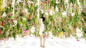 floating flowers an immersive digitally controlled installation of 2 300 suspended