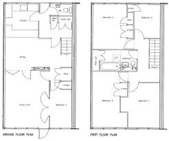 simple 3 bedroom house plans without garage flat plan drawing