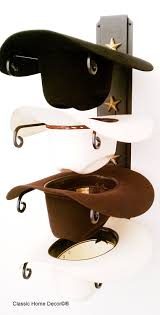 amazon com american made cowboy hat rack black with gold stars