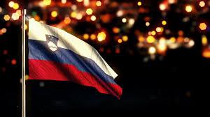 Flag Of Slovenia Slovenia National Flag City Light Night Bokeh Loop Animation 4k