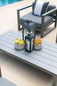 Aluminum Coffee Table Gray Outdoor Chairs With Aluminum Coffee Table Transitional Pool