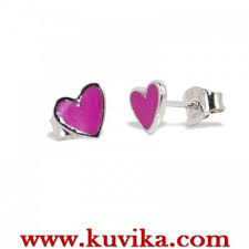 agatha earrings enameled silver earrings agatha ruiz de la prada heart sup online