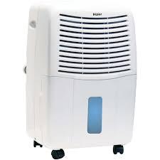 haier 45 pint dehumidifier for basements w drain white de45em l