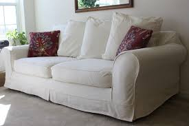 How To Make A Slipcover For A Sleeper Sofa by White Sofa Cover Furniture Update Your Cozy Living Room With Sofa