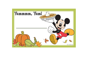 send food mickey and friends thanksgiving food labels disney family
