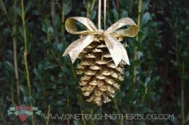 simple diy gold pinecone ornaments sweet tea saving grace