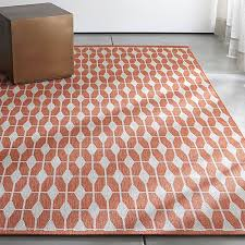 aldo mandarin orange outdoor rug crate and barrel