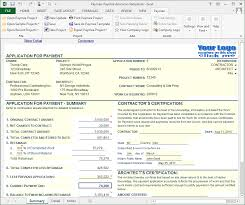 Aia G702 Excel Template Progress Payment Billing Software Print To Aia G702