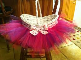 tutu easter basket wicker material choose your own colors