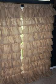 Burlap Country Curtains Ruffle Shower Curtain Kids Bath Pinterest Wide Ruffled Country