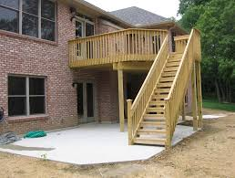 Patio Designs Under Deck by Cheap Deck Ideas Home Decorating And Tips Decking Loversiq