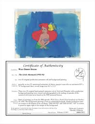 auction howardlowery com disney the little mermaid tv animation