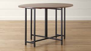 Drop Leaf Dining Room Table Origami Drop Leaf Oval Dining Table Crate And Barrel