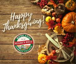 happy thanksgiving from all of us at redland market